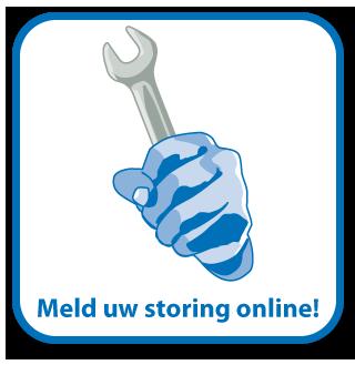 Meld hier uw storing online